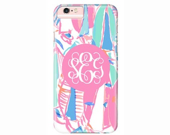 Personalized Lilly Pulitzer Phone Case | iPhone 7, iPhone 7 Plus,  iPhone 6s Plus, iPhone 6, iPhone 5, iPhone 5c, iPod Touch, Galaxy S7 S6