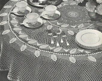 PDF Crochet Tablecloth Pattern  Table Topper