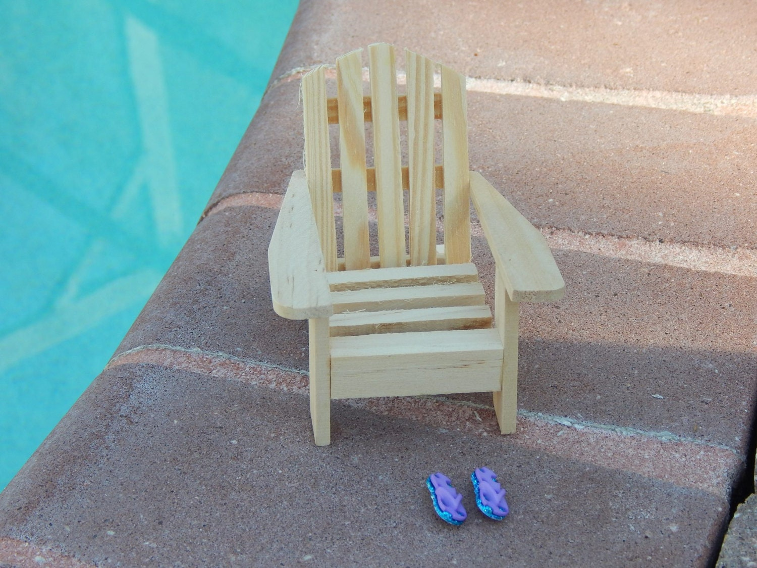 Miniature Adirondack Chair Unfinished Wedding Topper Fairy
