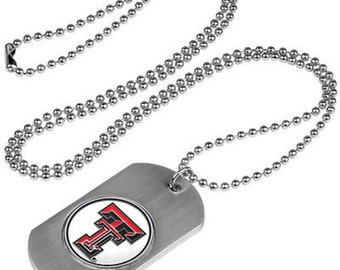 Texas Tech Red Raiders Stainless Steel Dog Tag Necklace
