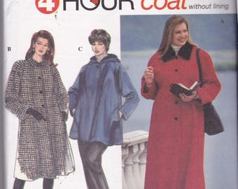 Simplicity 9388 Vintage Pattern Womens  Winter Coat in 3 Lengths Size 18,20,22,24 UNCUT