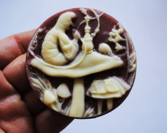 Handmade - Alice in Wonderland-Alice and Catepilar - gift, geeky soap, parody soap-NerdySoap