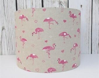 Flamingo Linen Lampshade