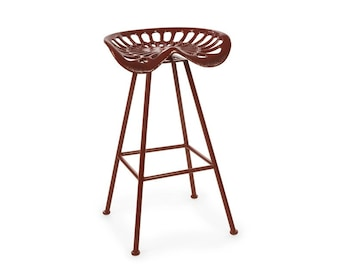 Red Tractor Seat Bar Stool | Free Shipping