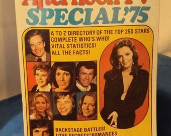Vintage 1975 'Afternoon TV Special '75 A-Z Directory of the Top 250 Stars of Daytime TV'