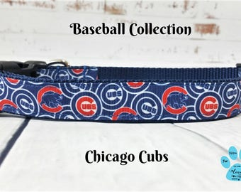 Chicago Cubs Dog Collars, World Series 2016, Adjustable Dog Collar, Cubs Pet Collar, Spring Dog Collar, Puppy Collar, Chicago Cubbies,