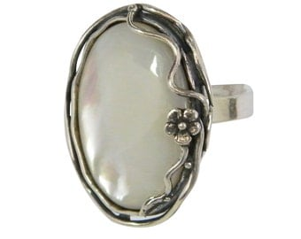 SHABLOOL sterling Silver 925 ring with Shell R00826