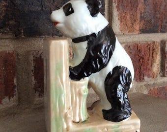 Vintage Panda Porcelain Figurine / Free Shipping