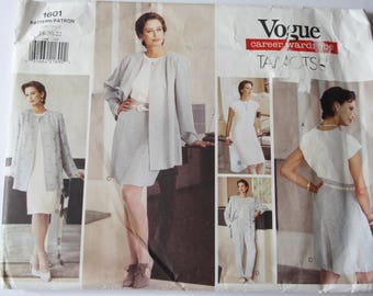 UNCUT Vogue 1601, Womens /Misses EASY Jacket, Dress, Top, Shorts and Pants Sewing Patterns , Career Wardrobe