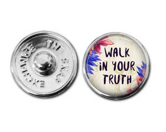 Walk in your truth Snap charm snap jewelry  boho charm bohemian charm boho bracelet charm bracelet interchangeable jewelry snap bracelet