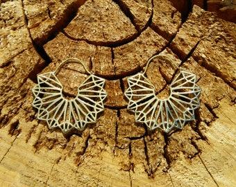 Ethnic Tribal Earrings in Brass