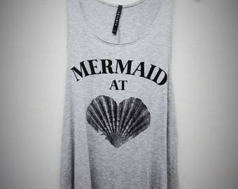 Mermaid At Heart Women's Graphic Tank Top
