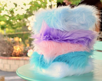 Faux Fur Fabric Pastel Pack, 5 Pretty Spring/Baby Color Faux Fur Fabric Squares, Fur Fabric, Craft Ideas, Baby Colors, Variety, Pastel Fur