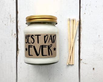 Best Dad Ever Scented Soy Candle