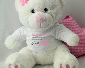 Angel Baby Memorial Teddy Bear- Pink