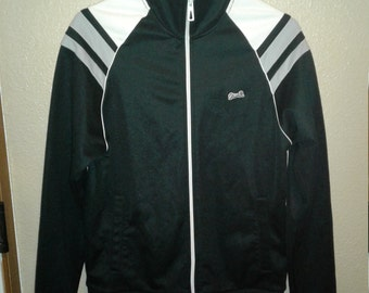 Le Tigre zip up track jacket medium black and white