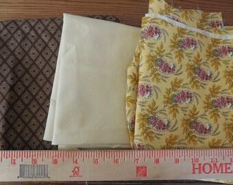 Destash- 4 pieces Of Home Decor Fabric Remnants