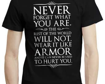 Game Of Thrones Unofficial Tyrion Lannister Never Forget Quote Shirt Tshirt Tee