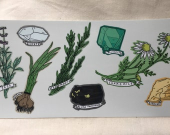 Crystal & Herb Sticker Sheet