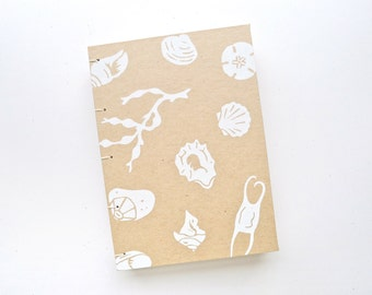 Beachcomber Journal / Nautical Blank Notebook / Hand Bound Coptic Book