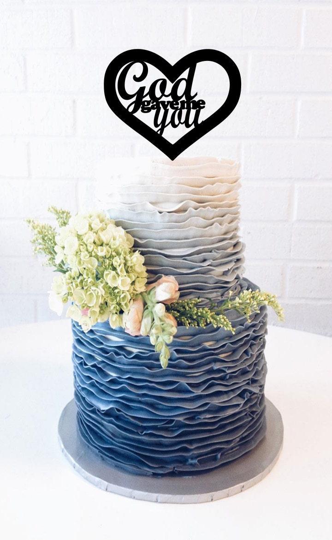 God Gave Me You Wedding Cake Topper Religious Wedding Topper