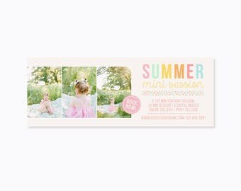 Facebook Cover Template - Photography Marketing - Timeline Template - Summer Mini Session - INSTANT DOWNLOAD