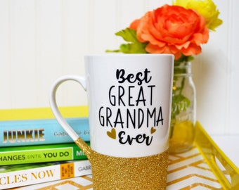 Grandma Coffee Mug // Great Grandma Gift // Gift for Grandma // Gift for Great Grandmother  // Best Grandma Ever// Pregnancy Announcement