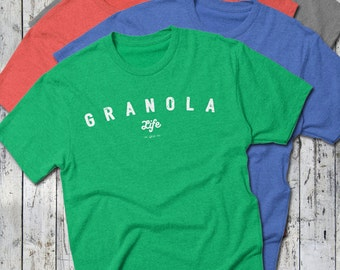 Granola Life Tee -- The Simple Life Tee, Tri-Blend T-Shirt, Nature, Naturalist Conservation -- Tee