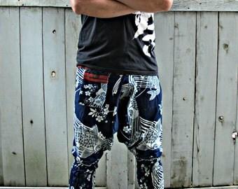 New Indigo Koi Fish Ninja Pants (Unisex) NK9G