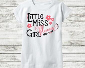 Funny Flower Girl Shirt - Flower Girl Gift - Flower Girl Outfit - Rehearsal Shirt - Flower Girl Tee - Flower Girl Proposal - Kids Wedding