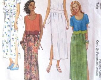 Bohemian-Style Summer Dress Pattern - McCalls 9224 - Sizes 10-12-14 - Woman's Dress Sewing Pattern