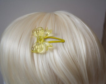 Pale Yellow Lolita Bow Hair Clip
