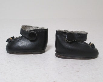 small black doll shoes 5cm