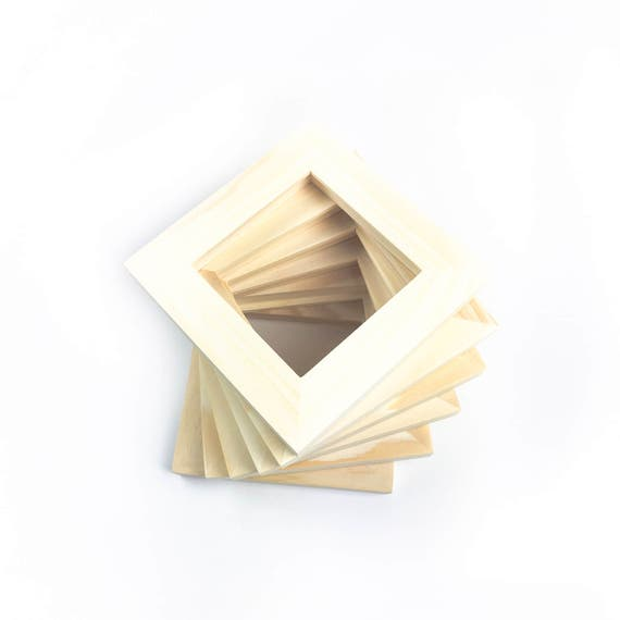 4x4 bulk unfinished wood frames wholesale 4x4 picture frames unfinished frames open wood frames from capecodframe on etsy studio - Wooden Picture Frames In Bulk