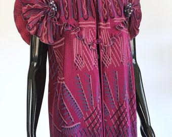 Rare Vintage Zandra Rhodes Pleated Blouse