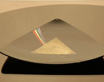 Dark side of the moon, tribute to Pink Floyd plate