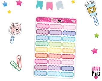 HP 057) --Scalloped quarter boxes Stickers
