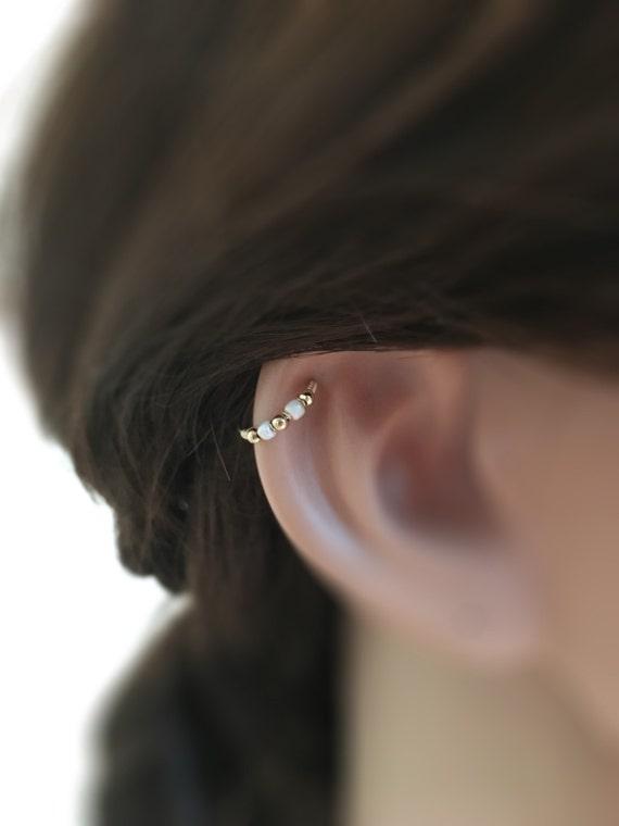 helix earring cartilage earring hoop helix hoop silver helix. Black Bedroom Furniture Sets. Home Design Ideas