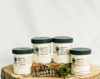Body Cream, Cedarwood Mint, ORGANIC Ingredients with Mango Butter and Essential Oils