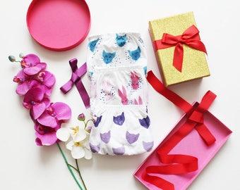 Printed panties gift set / panties set organic cotton cotton lingerie /  Made to order