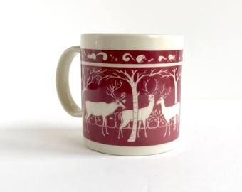 Vintage Taylor & Ng Primitive Deer Elk Mug