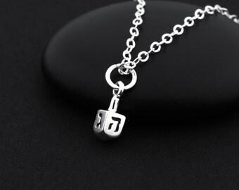 Dreidel Necklace, Sterling Silver, Hanukkah Necklace, Hanukkah Jewelry, Hanukkah Gifts, Chanukah, Jewish Jewelry, Jewish Necklace