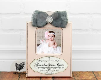 Baptism Gift GIRL Christening Gift Personalized picture Frame Baptism Gift from Godparent Goddaughter Gift Baptism Gift Baby Girl Frame