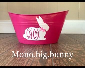 Personalized Basket, Personalized Bucket - Personalized, Custom, Monogramed, Colorful Basket Plastic, Tub, Birthday Basket
