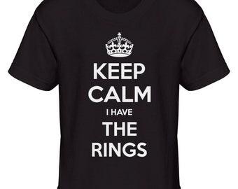 Keep Calm I Have The Rings T-Shirt, Wedding Tshirt, Ring Bearer T-Shirt, Ring Boy Tshirt, Ring Girl Tshirt, Youth Tshirt, Funny