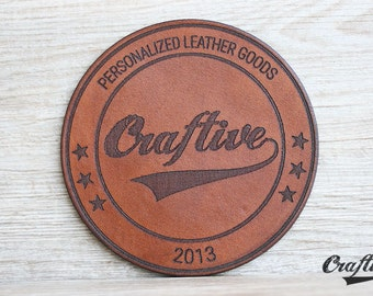 Logo Branding Coasters, Custom Logo Leather coasters, Personalized Business Logo, Client Gifts, Corporate Gifts, Gift for coworker
