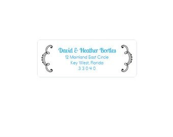 Return Address Labels - Scalloped - Custom - Personalized - Return Address Stickers