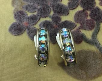 Crystal Clip-on Semi-Hoop Earrings