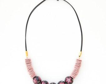 Romantic necklae/ Fashion necklace/ polymer clay necklace/ floral necklace/ fully handmade necklace