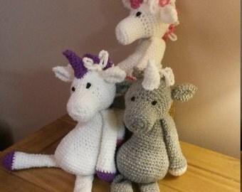 cute crochet unicorn. With a little sparkle